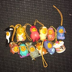 Winnie the Pooh cell phone charms